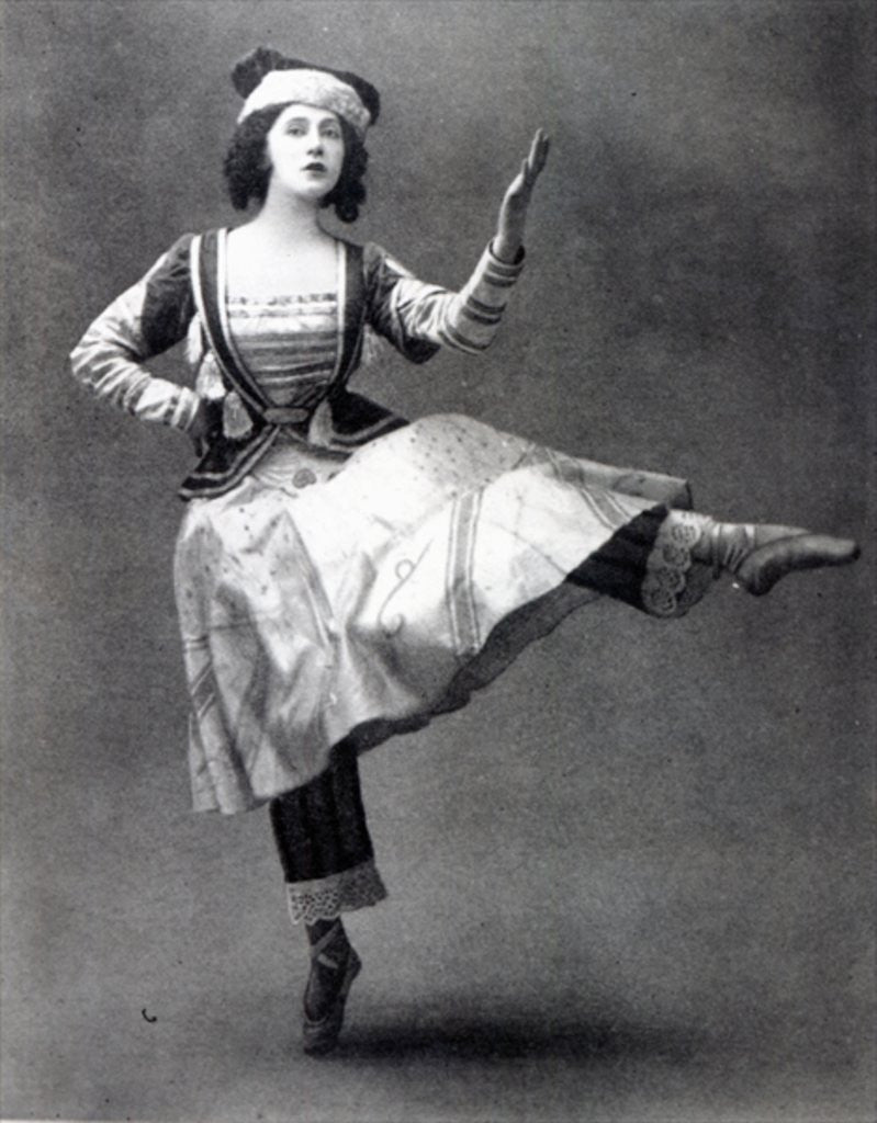 Detail of Tamara Karsavina in the ballet 'Petrouchka' by French Photographer