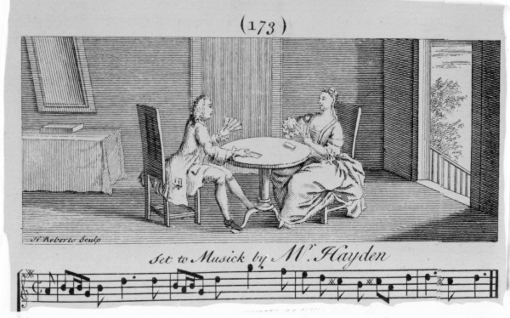 Detail of Illustration to Sheet Music by Joseph Haydn by English School