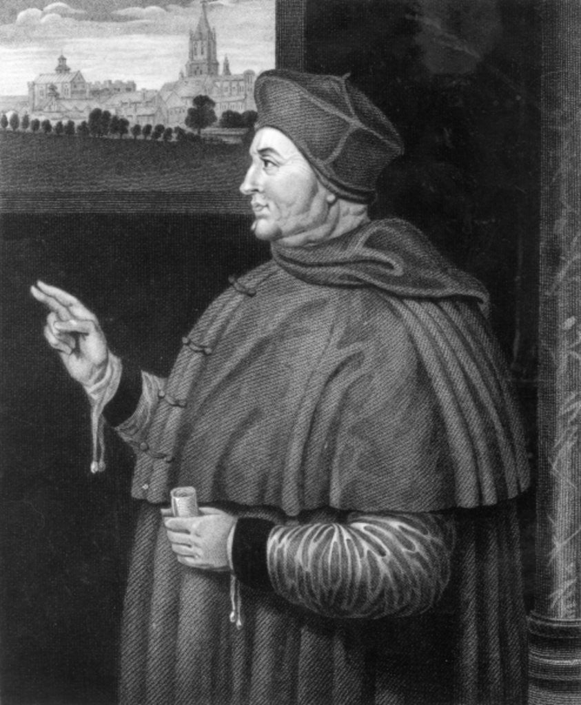 Detail of Cardinal Thomas Wolsey by Hans Holbein The Younger