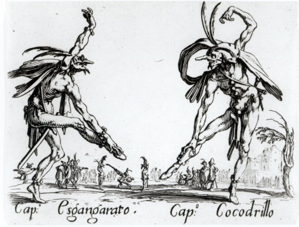 Detail of I Balli de Spessanei, or Le Grande Chasse by Jacques Callot
