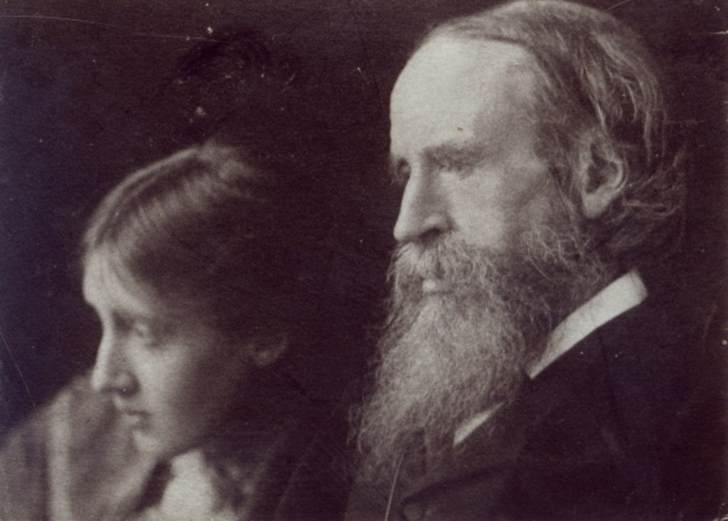 Detail of Virginia Woolf and her father Sir Leslie Stephen by English Photographer