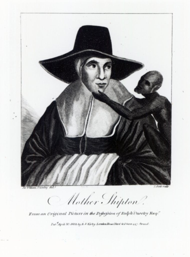 Detail of Mother Shipton, engraved by John Scott by Sir William Ouseley