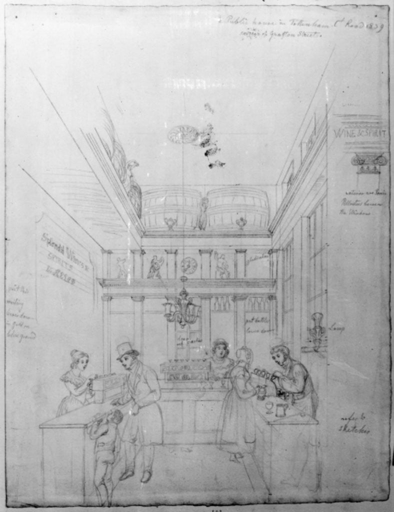 Detail of A London Liquor Shop by George the Elder Scharf
