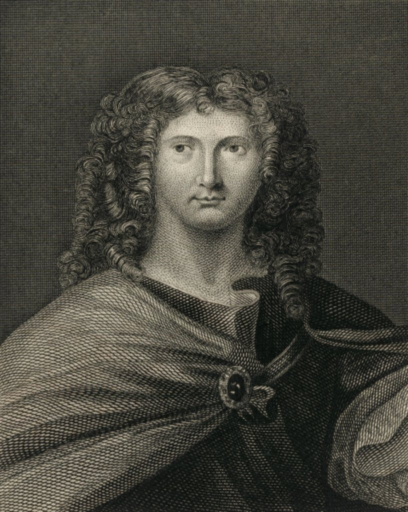Detail of Wentworth Dillon, 4th Earl of Roscommon by English School