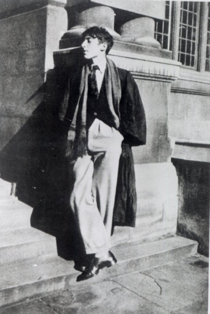 Detail of Louis MacNeice during his time at Oxford by English Photographer