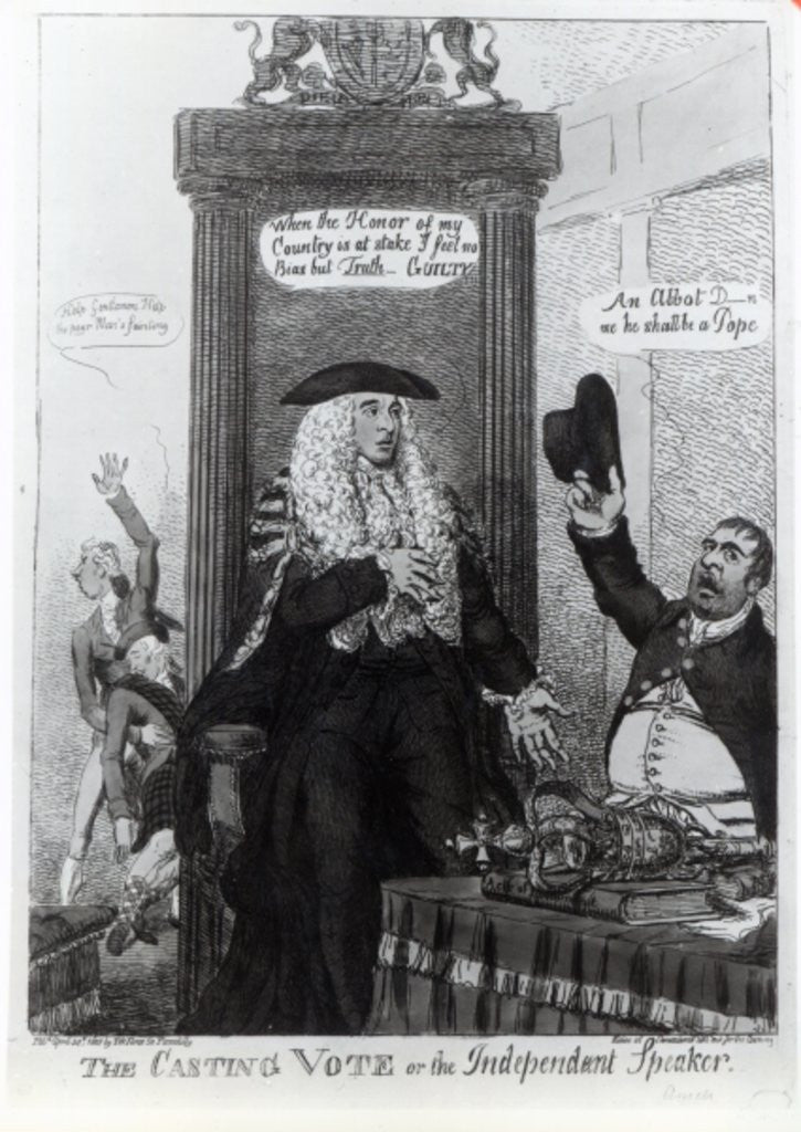 Detail of The Casting Vote, or the Independant Speaker by English School