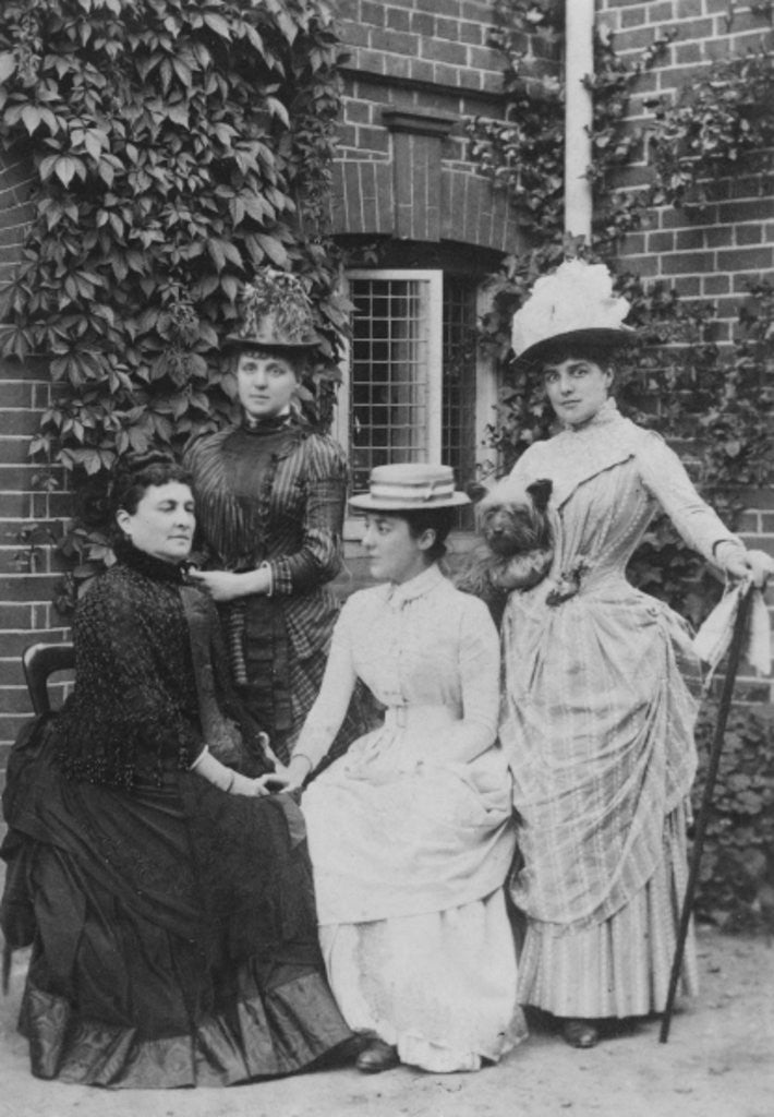 Detail of Jennie Jerome, later Lady Randolph Churchill, with her mother and sisters by English Photographer
