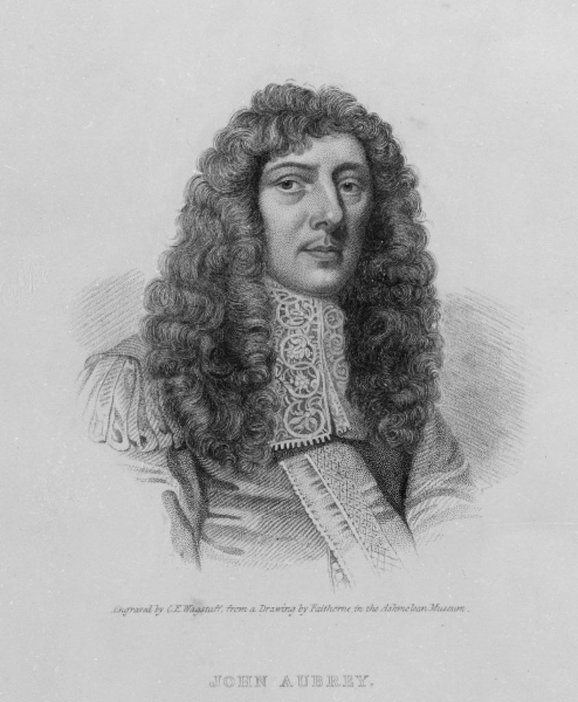 Detail of John Aubrey by William Faithorne