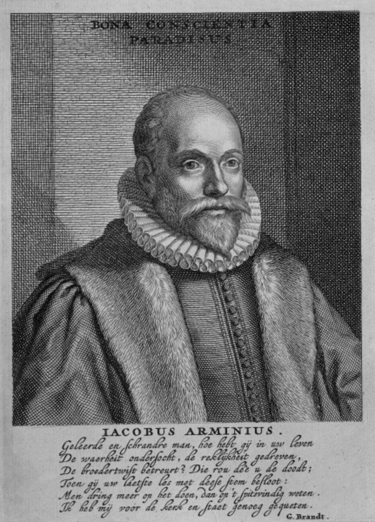 Detail of Jacobus Arminius by Dutch School