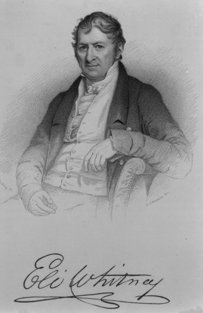 Detail of Eli Whitney by Charles Bird King