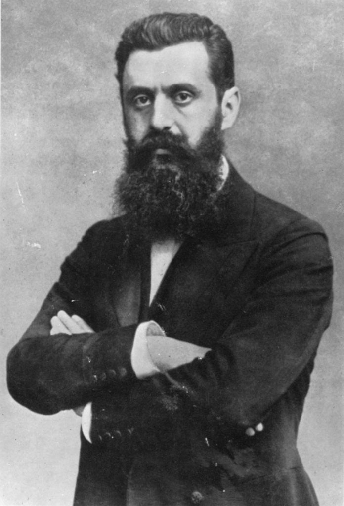 Detail of Theodor Herzl by Austrian Photographer