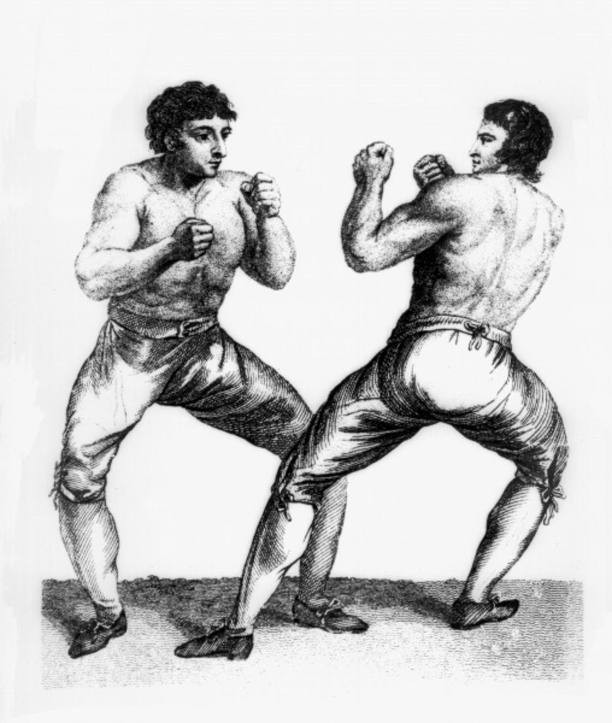 Detail of Boxing Match Between Daniel Mendoza and Richard Humphreys by Charles Reuben Ryley