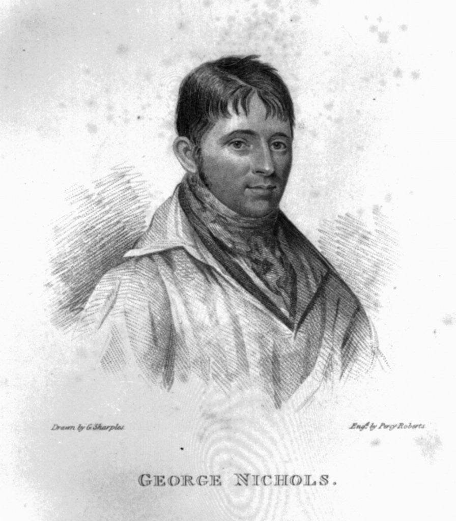 Detail of George Nichols, engraved by Percy Roberts by George Sharples