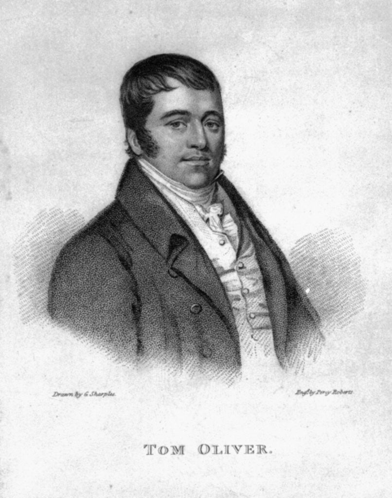Detail of Tom Oliver, engraved by Percy Roberts by George Sharples