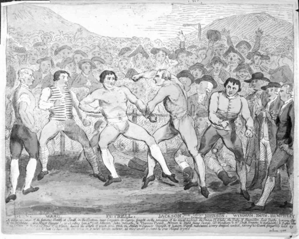 Detail of Boxing match between Thomas Futrell and John Jackson, June 9th 1788 by James Gillray