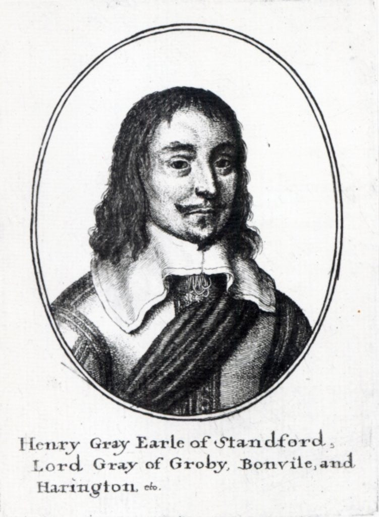 Detail of Henry Grey, 1st Earl Stamford by Wenceslaus Hollar