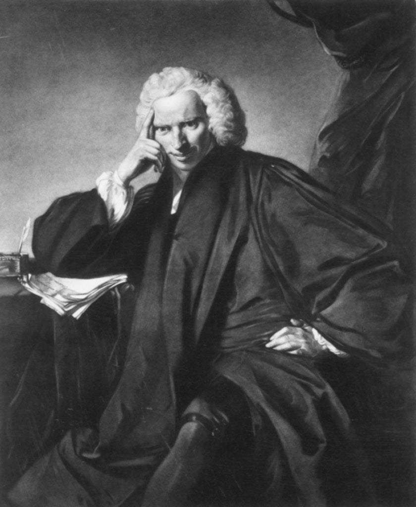 Detail of Laurence Sterne by Sir Joshua Reynolds