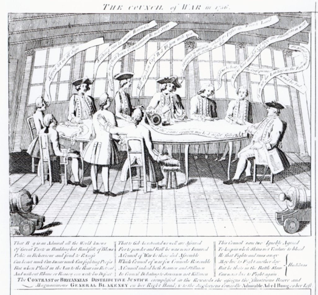 Detail of The Council of War in 1756 by English School