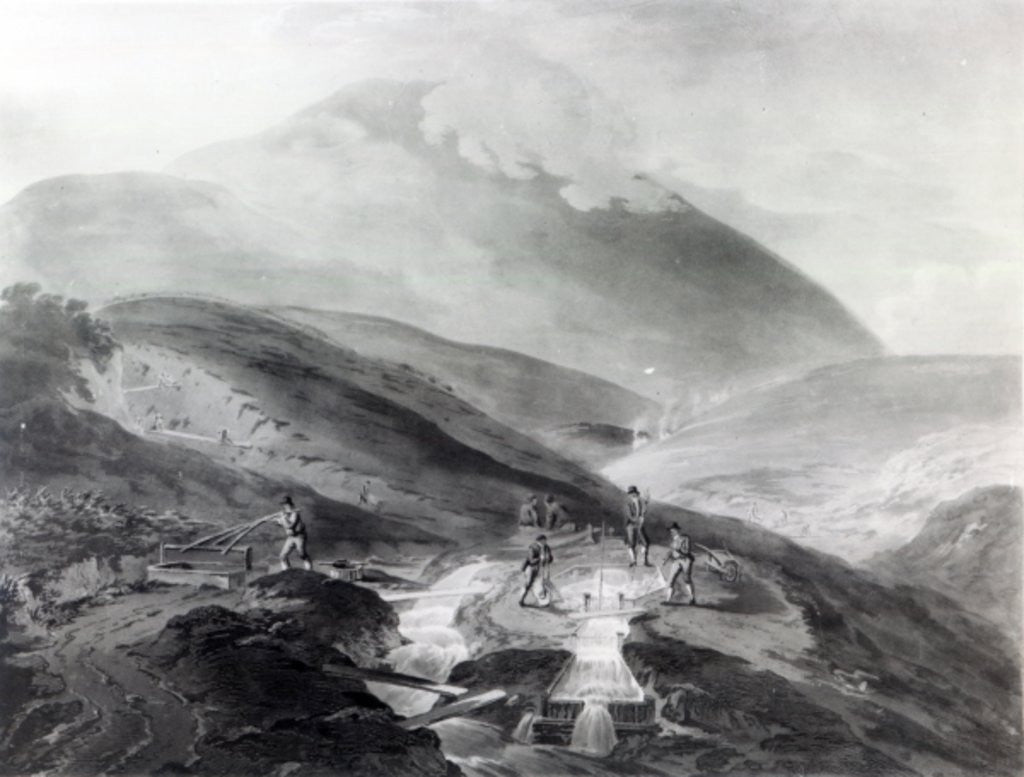 Detail of Gold Mines, County of Wicklow by Thomas Sautelle Roberts