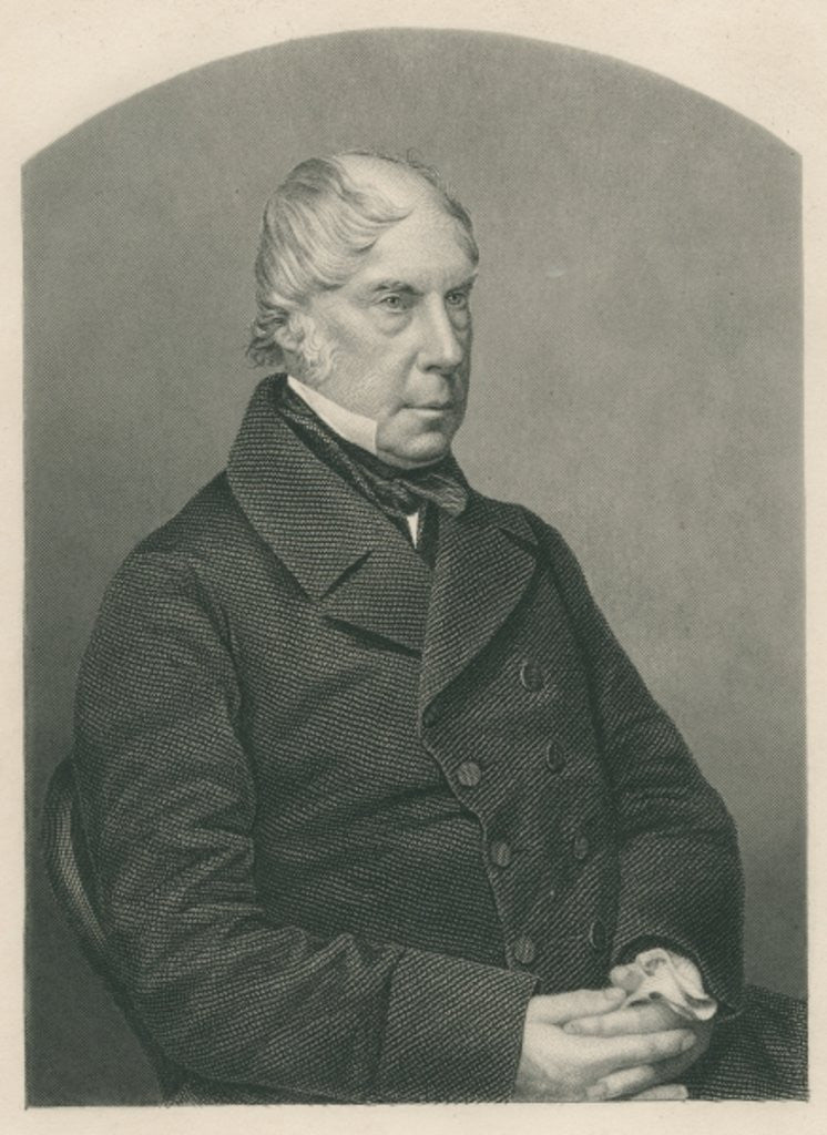 Detail of George Hamilton-Gordon, 4th Earl of Aberdeen, engraved by D.J. Pound from a photograph by published in London