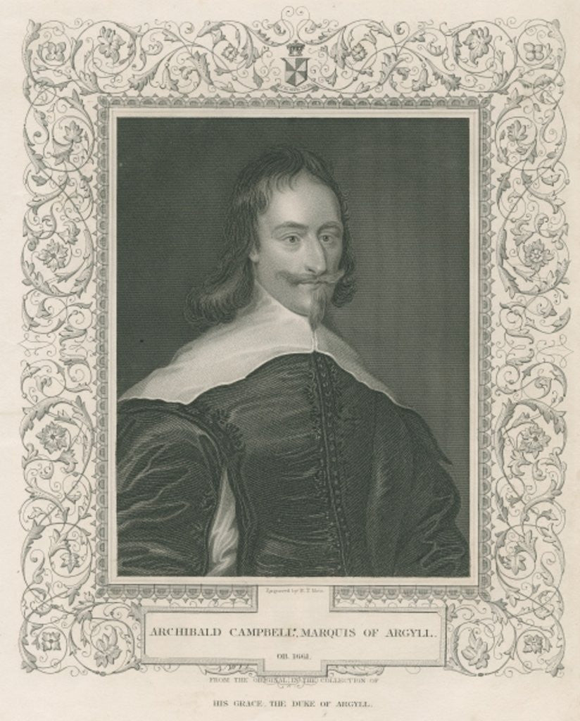 Detail of Sir Archibald Campbell, 1st Marquess and 8th Earl of Argyll by English School
