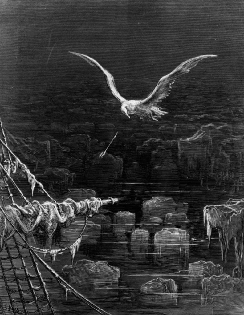 Detail of The albatross is shot by the Mariner, by S.T. Coleridge by Gustave Dore