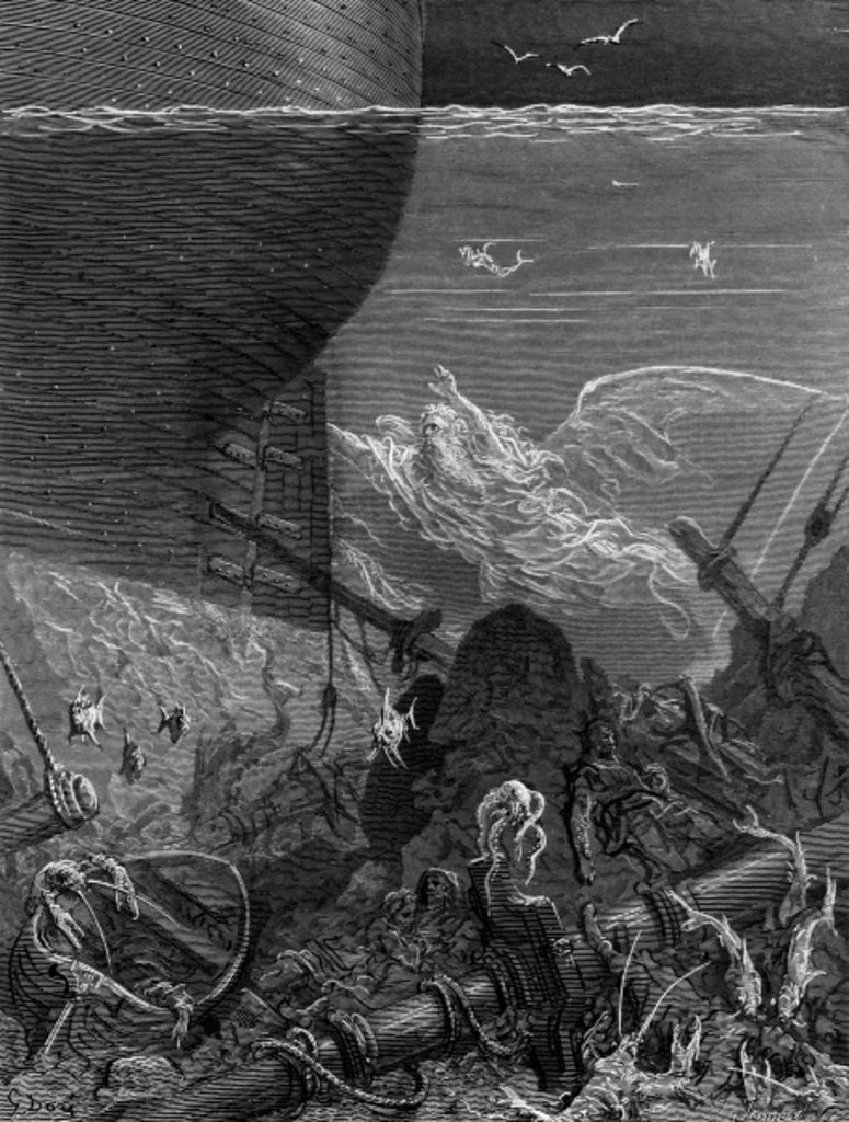 Detail of The Spirit that had followed the ship from the Antartic, scene from 'The Rime of the Ancient Mariner' by S.T. Coleridge by Gustave Dore