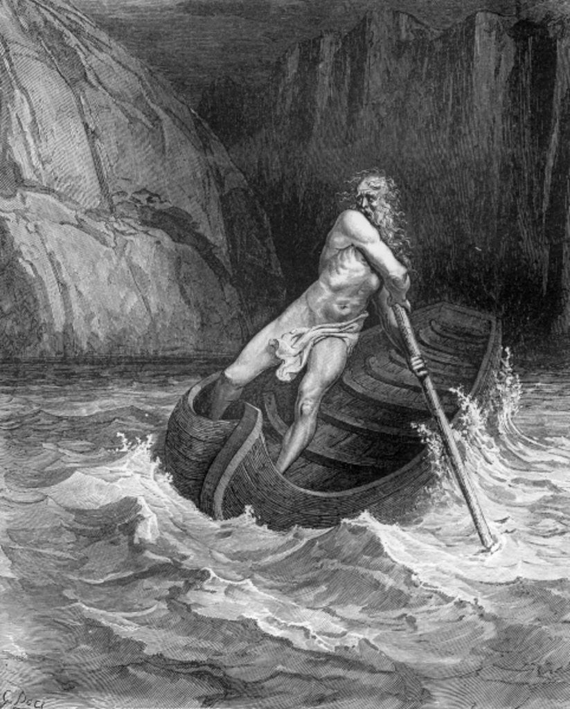 Detail of Charon, the Ferryman of Hell by Gustave Dore