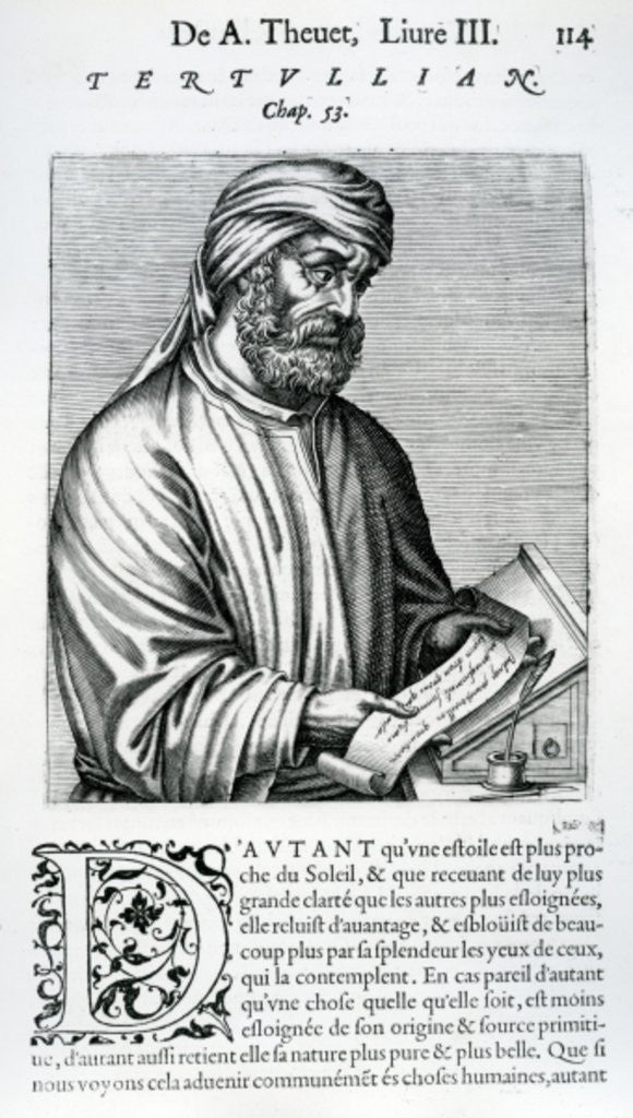 Detail of Tertullian by French School