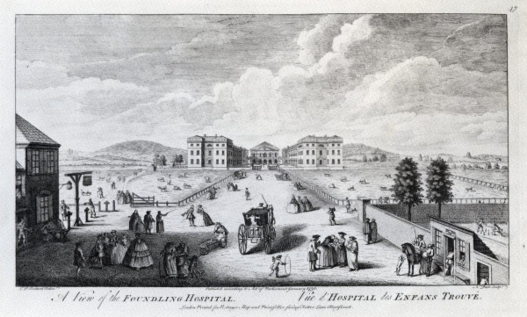 Detail of A View of the Foundling Hospital by Louis Philippe Boitard