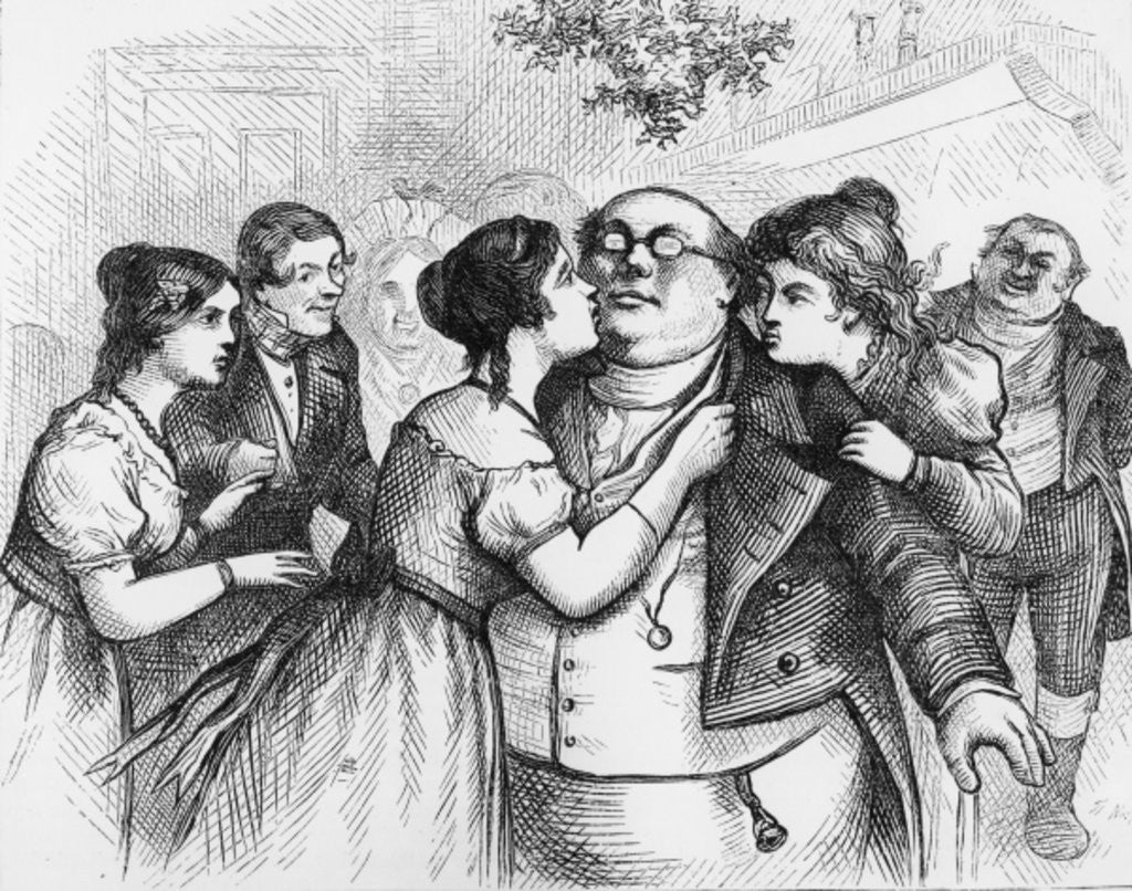 Detail of 'It was a pleasant thing to see Mr. Pickwick in the centre of the group' by English School