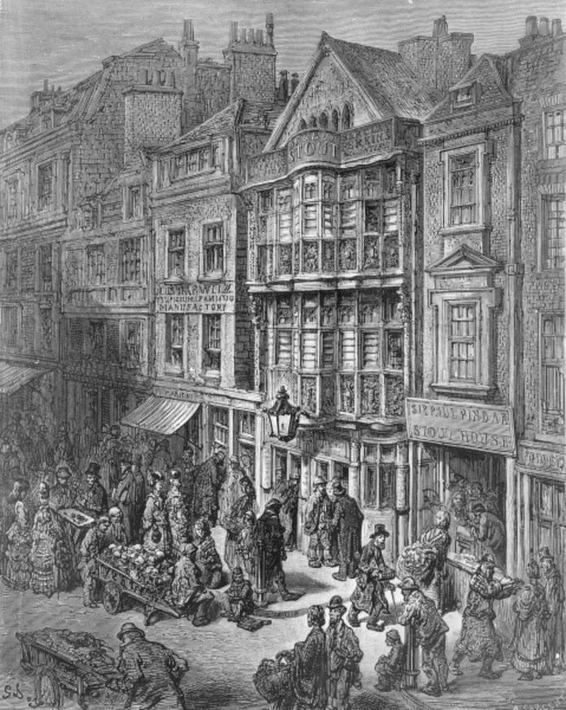 Detail of Bishopsgate Street by Gustave Dore