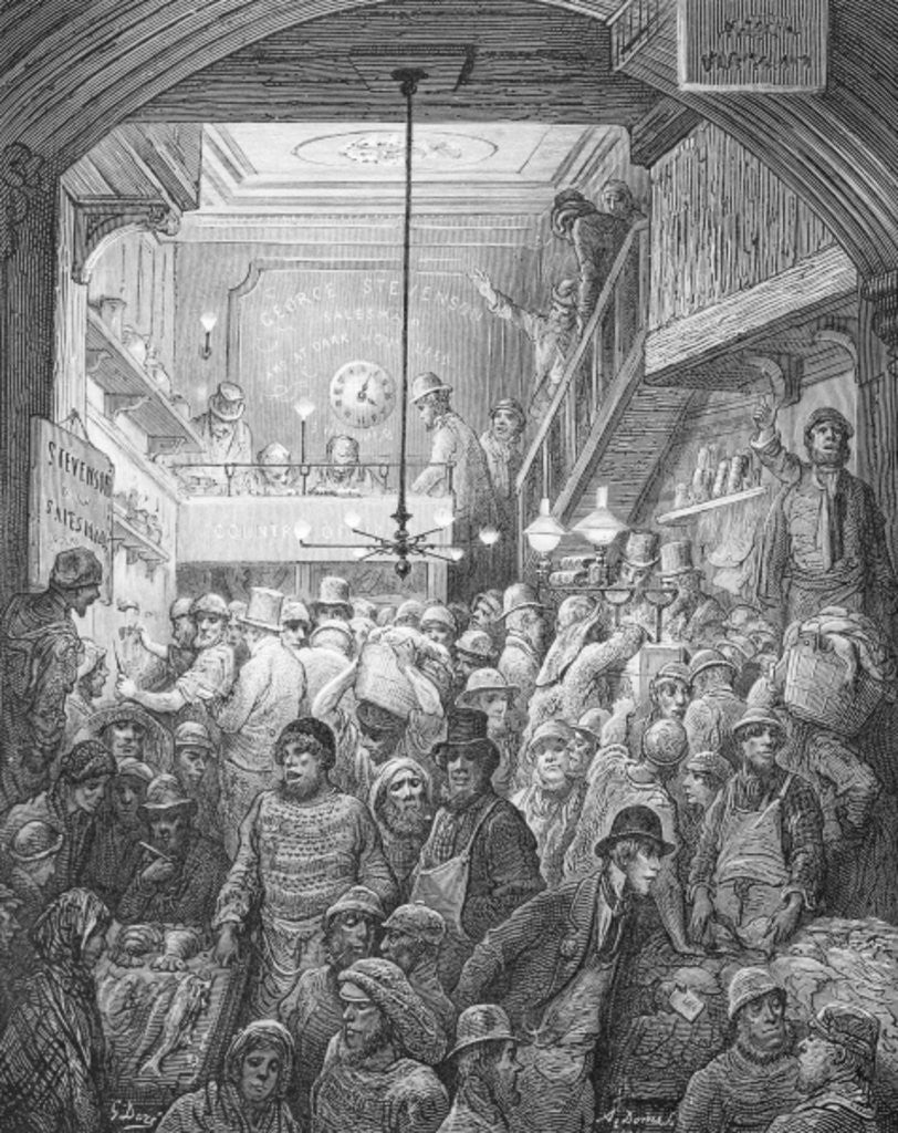 Detail of Billingsgate - Early Morning by Gustave Dore
