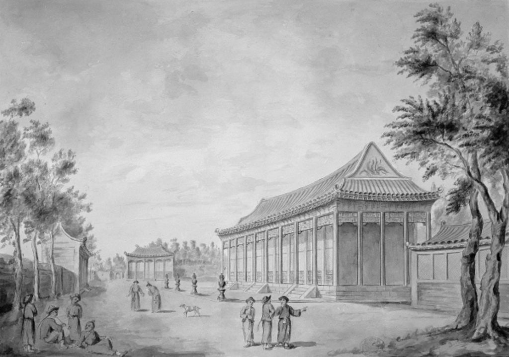 Detail of Hall of Audience at the Old Summer Palace, Beijing by Sir John Barrow