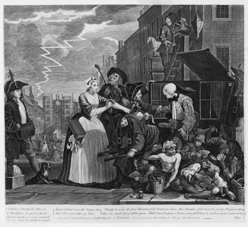 Detail of Arrested for Debt by William Hogarth