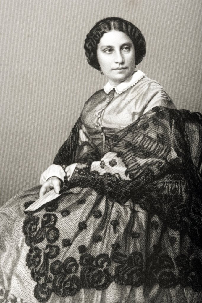 Detail of Madame Caroline Marie Felix Miolan-Carvalho engraved by D.J. Pound from a photograph by John Jabez Edwin Paisley Mayall