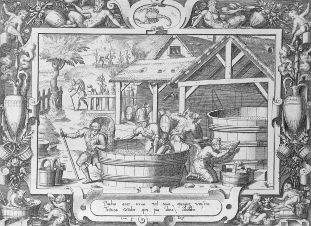 Detail of The Wine Harvest by French School