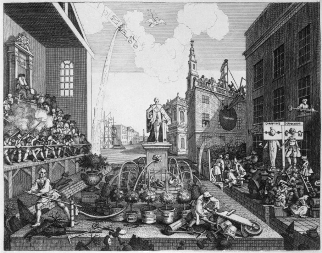 Detail of The Times by William Hogarth