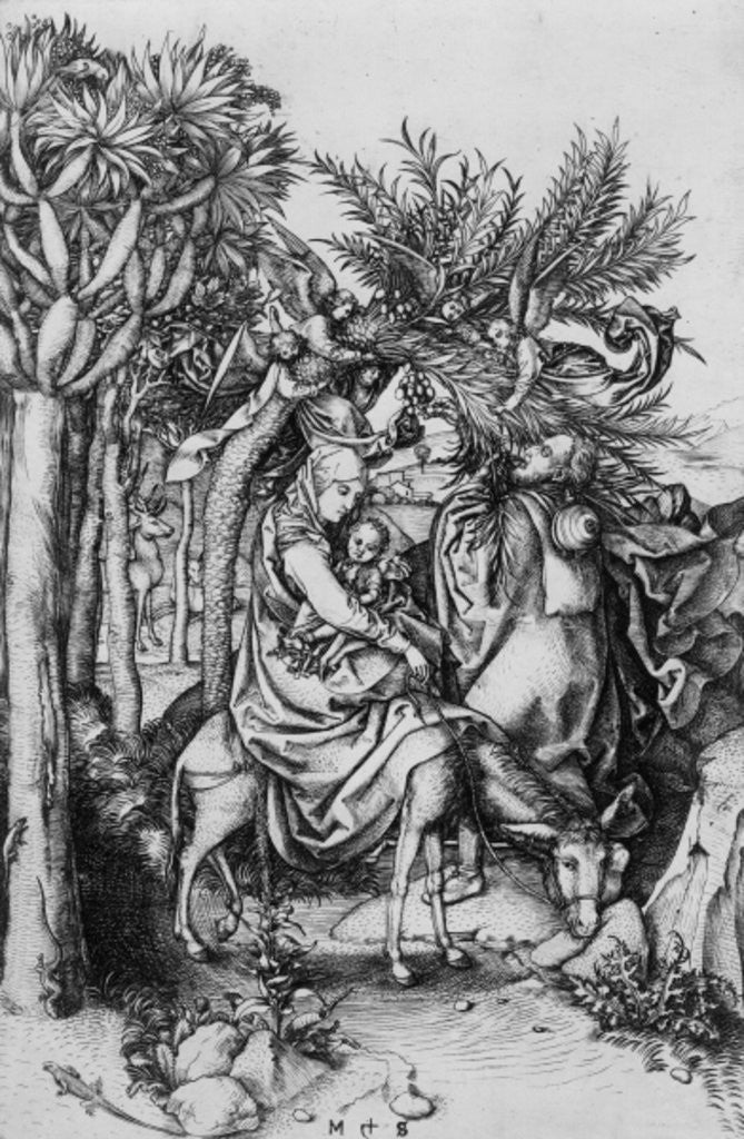 Detail of The Flight into Egypt by Martin Schongauer