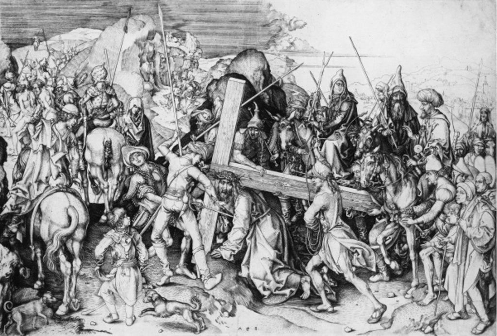 Christ bearing his cross by Martin Schongauer