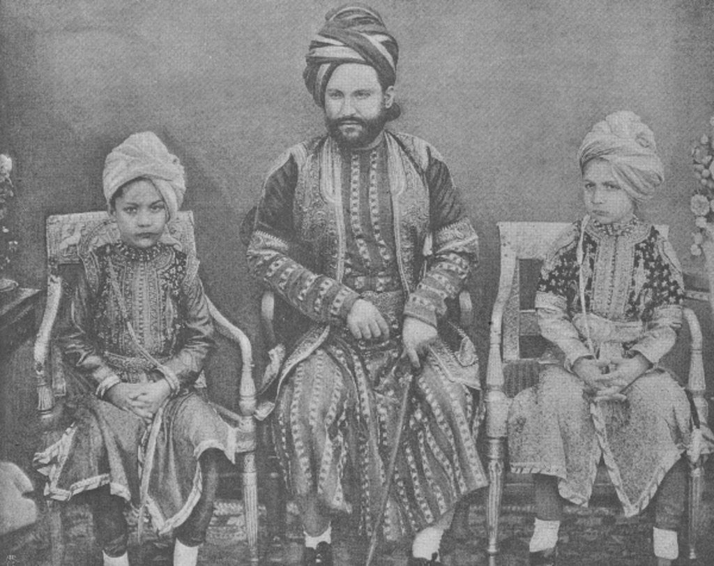 Detail of Son-in-Law and Grandsons of Sultan Shah Jahan, Begum of Bhopal by English Photographer