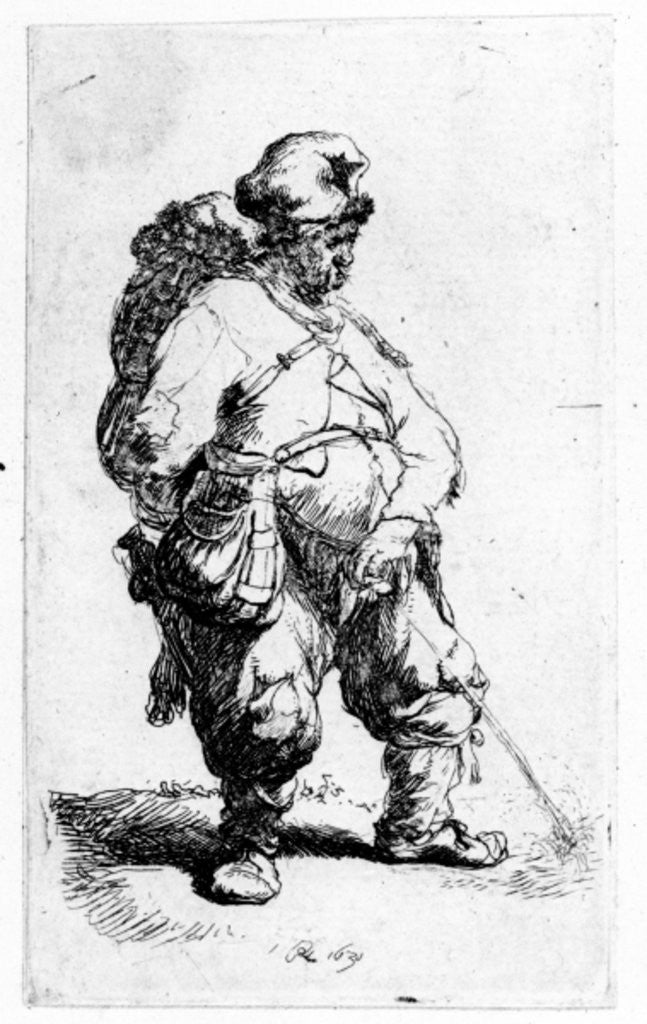Detail of A man urinating by Rembrandt Harmensz. van Rijn