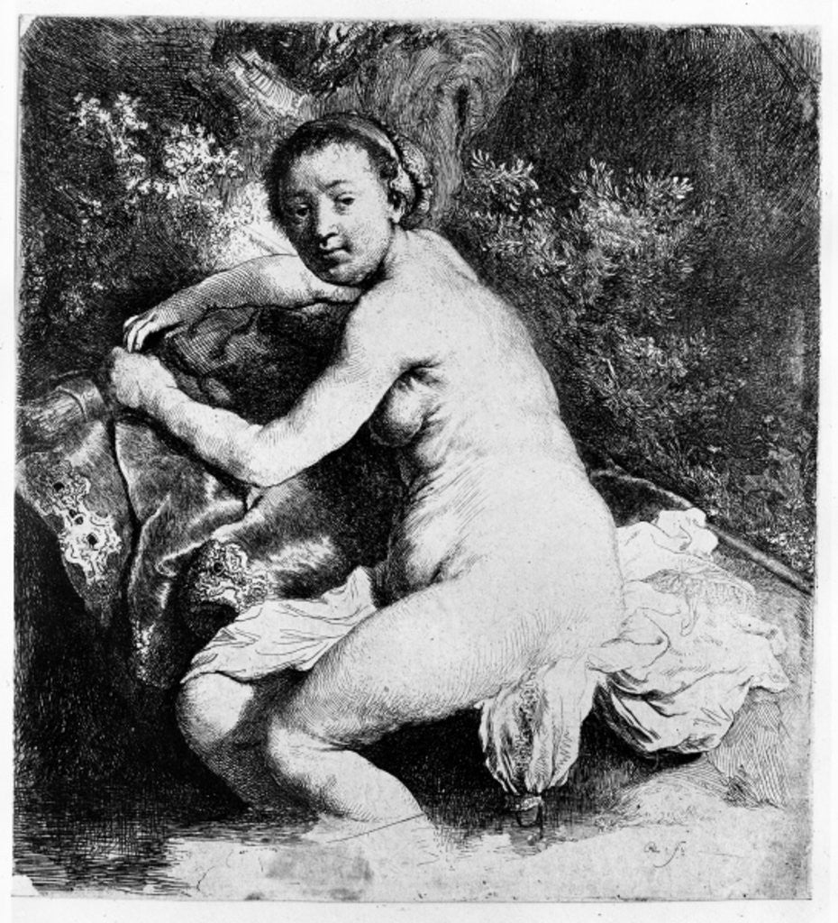 Detail of Diana at the bath by Rembrandt Harmensz. van Rijn