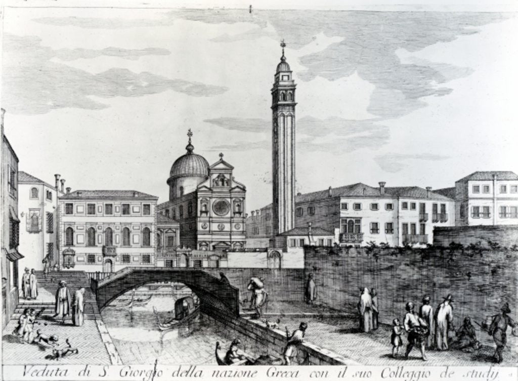 Detail of View of San Giorgio dei Greci and the Flanginian School, Venice by Italian School