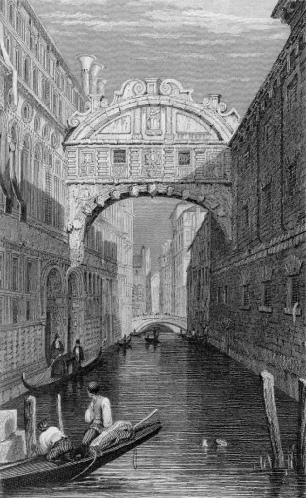 The Bridge of Sighs, Venice by Samuel Prout