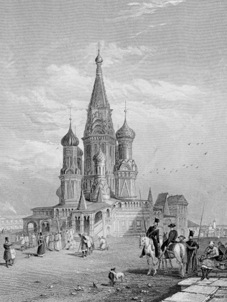 Detail of St. Basil's Cathedral, Moscow by Alfred Gomersal Vickers