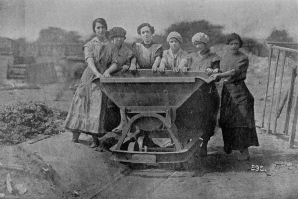 Detail of Women Transporting Refuse. War Office photography by English Photographer