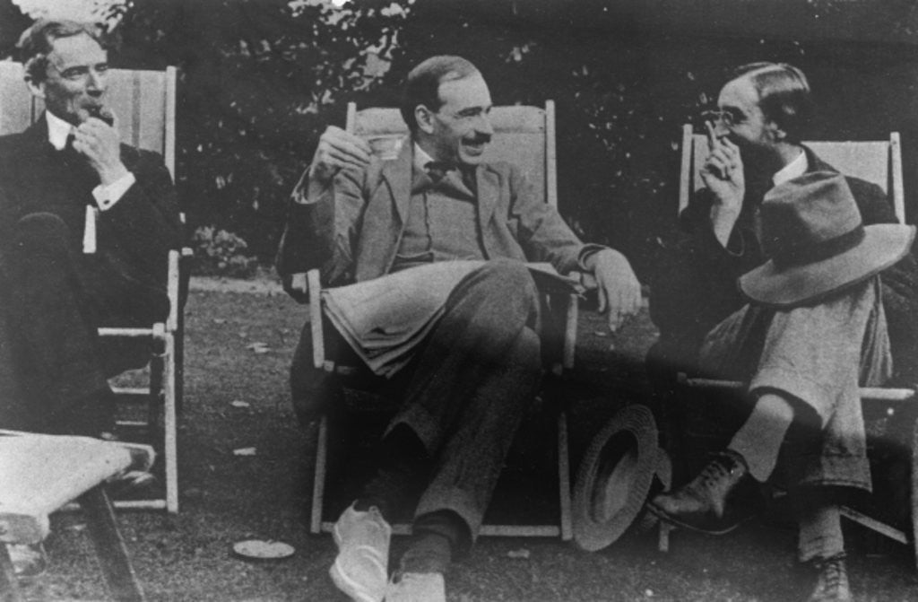 Detail of Bertrand Russell, J. M. Keynes and Lytton Strachey by English Photographer