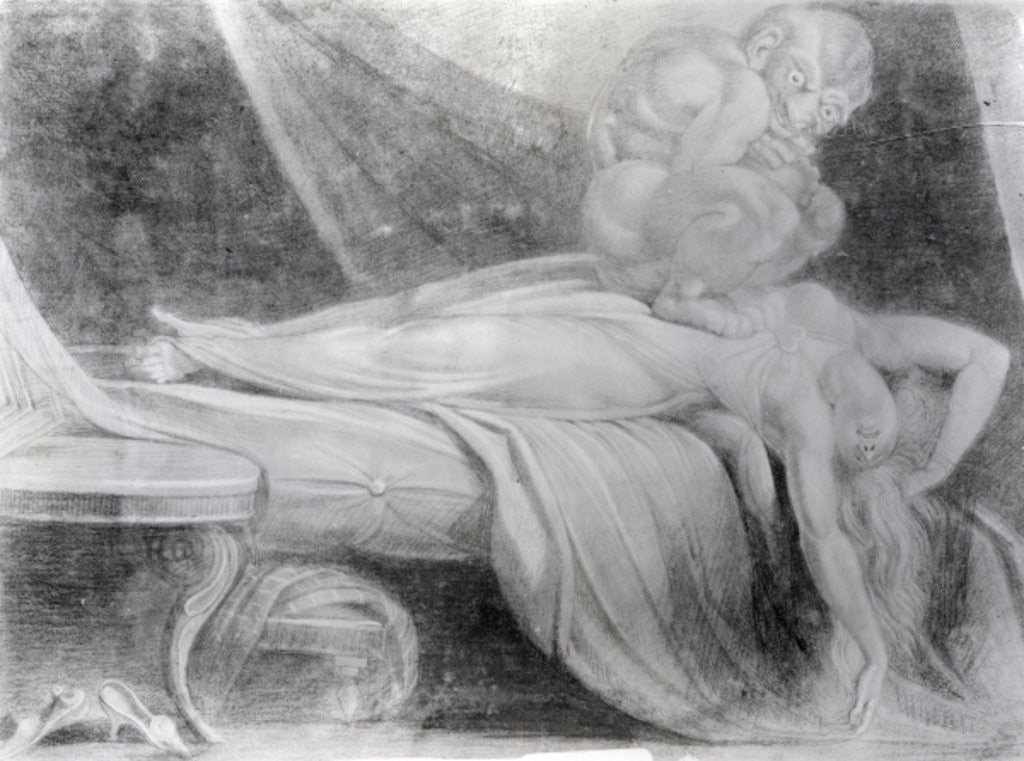 Detail of The Nightmare by Henry Fuseli