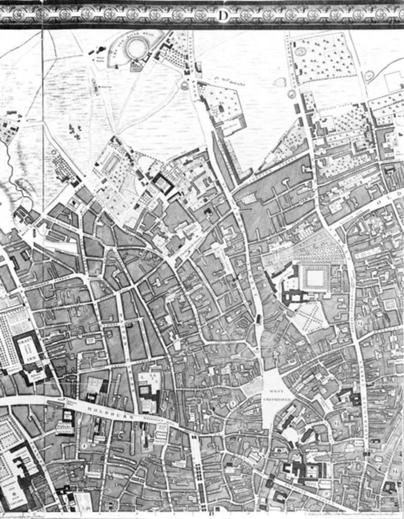 Detail of A Map of Clerkenwell, City of London by John Rocque